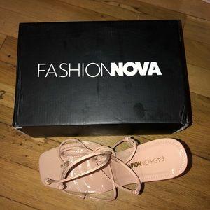 BRAND NEW FASHION NOVA💖 Nude Strappy Heels